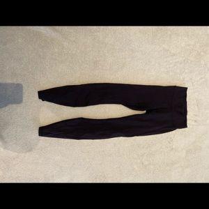 Lululemon black leggings with mesh detail
